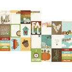 Simple Stories - Pumpkin Spice Collection - 12 x 12 Double Sided Paper - 3 x 4 Journaling Card Elements