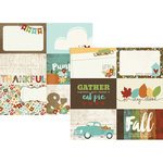 Simple Stories - Pumpkin Spice Collection - 12 x 12 Double Sided Paper - 4 x 6 Horizontal Journaling Card Elements