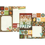 Simple Stories - Pumpkin Spice Collection - 12 x 12 Double Sided Paper - 2 x 2 and 6 x 8 Elements
