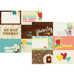 Simple Stories - We Are Family Collection - 12 x 12 Double Sided Paper - 4 x 6 Horizontal Journaling Card Elements