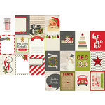 Simple Stories - Claus and Co Collection - Christmas - 12 x 12 Double Sided Paper - 3 x 4 Journaling Card Elements