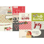 Simple Stories - Claus and Co Collection - Christmas - 12 x 12 Double Sided Paper - 4 x 6 Horizontal Journaling Card Elements