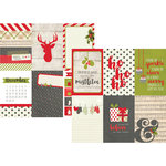 Simple Stories - Claus and Co Collection - Christmas - 12 x 12 Double Sided Paper - 4 x 6 Vertical Journaling Card Elements