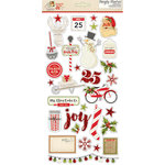 Simple Stories - Claus and Co Collection - Christmas - Chipboard Stickers