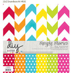 Simple Stories - DIY Collection - 12 x 12 Paper Kit - Boutique Basics