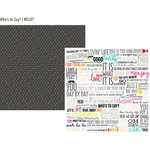 Simple Stories - DIY Collection - 12 x 12 Double Sided Paper - Whos to Say