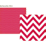 Simple Stories - DIY Collection - 12 x 12 Double Sided Paper - Red Chevron