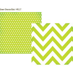 Simple Stories - DIY Collection - 12 x 12 Double Sided Paper - Green Chevron