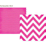 Simple Stories - DIY Collection - 12 x 12 Double Sided Paper - Pink Chevron