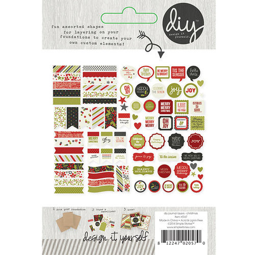 Simple Stories - DIY Christmas Collection - Card Layers