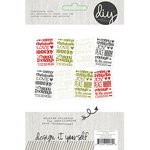 Simple Stories - DIY Christmas Collection - Cardstock Stickers - Sentiments