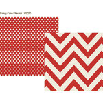 Simple Stories - DIY Christmas Collection - 12 x 12 Double Sided Paper - Candy Cane Chevron