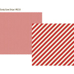Simple Stories - DIY Christmas Collection - 12 x 12 Double Sided Paper - Candy Cane Stripe