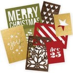 Simple Stories - SNAP Collection - 3 x 4 and 4 x 6 Die Cut Cards - Cozy Christmas