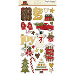 Simple Stories - Cozy Christmas Collection - Chipboard Stickers