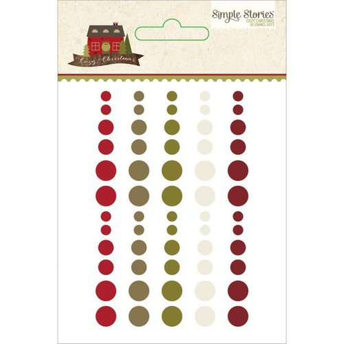 Simple Stories - Cozy Christmas Collection - Enamel Dots