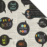 Simple Stories - Frankie and Friends Collection - Halloween - 12 x 12 Double Sided Paper - Happy Haunting
