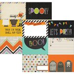 Simple Stories - Frankie and Friends Collection - Halloween - 12 x 12 Double Sided Paper - 4 x 6 Horizontal Journaling Card Elements