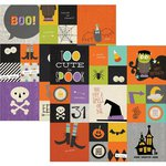 Simple Stories - Frankie and Friends Collection - Halloween - 12 x 12 Double Sided Paper - 2 x 2 and 4 x 4 Insta-Square Elements