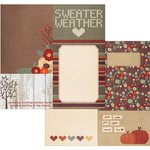 Simple Stories - Sweater Weather Collection - 12 x 12 Double Sided Paper - 4 x 6 and 6 x 8 Journaling Card Elements