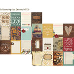 Simple Stories - Legacy Collection - 12 x 12 Double Sided Paper - 3 x 4 Journaling Card Elements