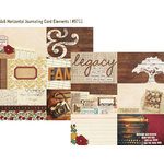 Simple Stories - Legacy Collection - 12 x 12 Double Sided Paper - 4 x 6 Horizontal Journaling Card Elements