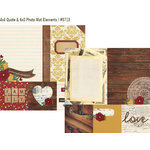 Simple Stories - Legacy Collection - 12 x 12 Double Sided Paper - Quote and Photo Mat Elements