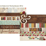 Simple Stories - Legacy Collection - 12 x 12 Double Sided Paper - Border and Title Strip Elements