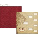 Simple Stories - Legacy Collection - 12 x 12 Double Sided Paper - Family Tree 1