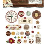 Simple Stories - Legacy Collection - Decorative Brads