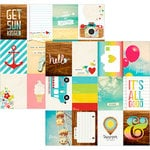 Simple Stories - Good Day Sunshine Collection - 12 x 12 Double Sided Paper - 3 x 4 Journaling Card Elements