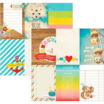 Simple Stories - Good Day Sunshine Collection - 12 x 12 Double Sided Paper - 4 x 6 Vertical Journaling Card Elements