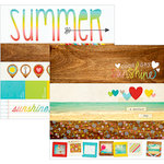 Simple Stories - Good Day Sunshine Collection - 12 x 12 Double Sided Paper - Borders and Title Strip Elements