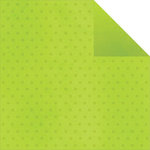 Simple Stories - Good Day Sunshine Collection - 12 x 12 Double Sided Paper - Green Dots