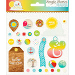 Simple Stories - Good Day Sunshine Collection - Decorative Brads