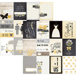 Simple Stories - The Story of Us Collection - 12 x 12 Double Sided Paper - 3 x 4 Journaling Card Elements