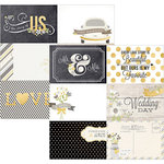 Simple Stories - The Story of Us Collection - 12 x 12 Double Sided Paper - 4 x 6 Horizontal Journaling Card Elements