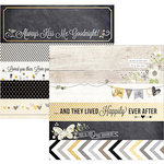 Simple Stories - The Story of Us Collection - 12 x 12 Double Sided Paper - Borders and Title Strip Elements