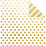 Simple Stories - The Story of Us Collection - 12 x 12 Double Sided Paper - Gold Dot