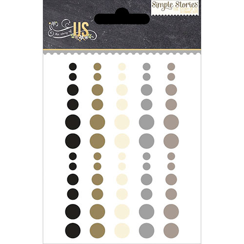 Simple Stories - The Story of Us Collection - Enamel Dots
