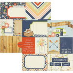 Simple Stories - Under the Stars Collection - Simple Sets - 12 x 12 Double Sided Paper - Journaling Card Elements 1
