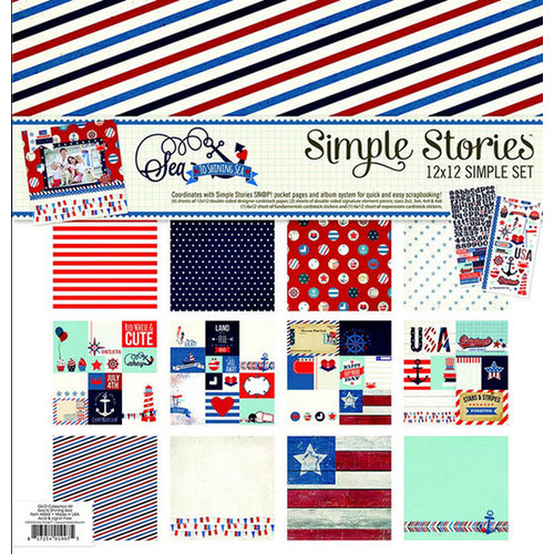 Simple Stories - Sea to Shining Sea Collection - Simple Sets - 12 x 12 Collection Kit