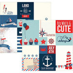 Simple Stories - Sea to Shining Sea Collection - Simple Sets - 12 x 12 Double Sided Paper - Journaling Card Elements 2