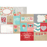 Simple Stories - Hugs and Kisses Collection - 12 x 12 Double Sided Paper - Elements 1
