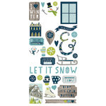 Simple Stories - Snow Fun Collection - Christmas - Cardstock Stickers - Fundamentals