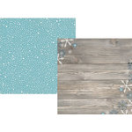 Simple Stories - Snow Fun Collection - Christmas - 12 x 12 Double Sided Paper - Flurries