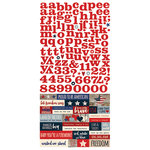 Simple Stories - Stars and Stripes Collection - Cardstock Stickers - Fundamentals
