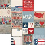 Simple Stories - Stars and Stripes Collection - 12 x 12 Double Sided Paper - Elements 2