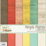 Simple Stories - Summer Vibes Collection - 12 x 12 Simple Basics Kit