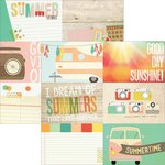 Simple Stories - Summer Vibes Collection - 12 x 12 Double Sided Paper - 4 x 6 Horizontal Journaling Card Elements